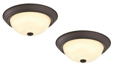 Travis 2-Pack LED Ceiling Lights, Oil Rubbed Bronze #579185