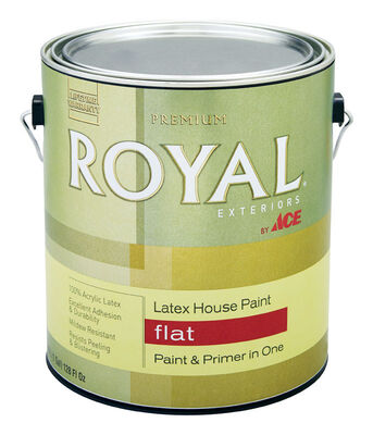 Ace Royal Acrylic Latex House Paint & Primer Flat 1 gal. Ultra White