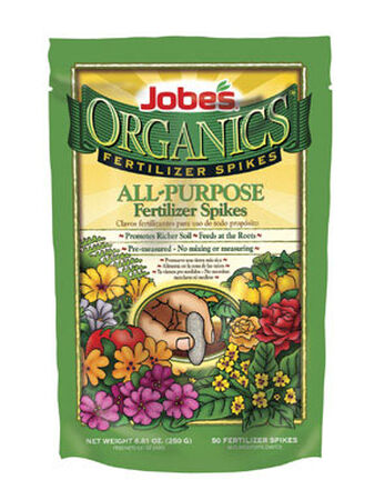 Jobe's Organics All Purpsoe Fertilizer Spikes For Plants Shrubs 50 pk