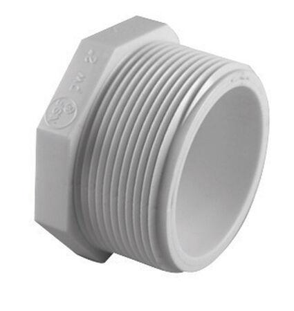 Charlotte Pipe 1/2 in. Dia. Schedule 40 MPT To MIPT PVC Plug
