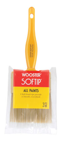 Wooster Softip 3 in. W Flat Nylon Polyester Paint Brush