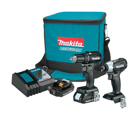 Makita LXT Sub-Compact 2 pc. Cordless Drill Driver and Impact Driver Combo Kit Lithium-Ion 18