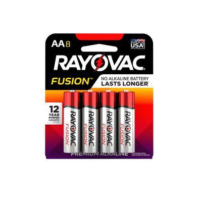 Rayovac Fusion AA Alkaline Batteries 8 pk
