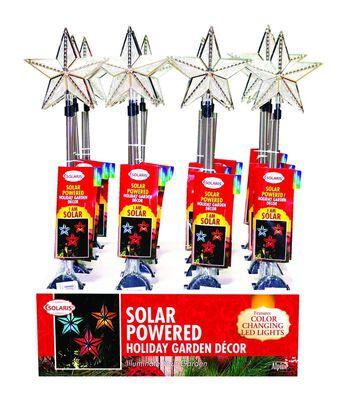 Solaris Stars Garden Stake Color Changing Polyresin 1 pk