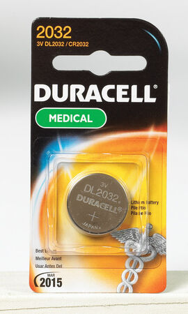 Duracell 2032 Lithium Watch/Electronic Battery 3 volts 1 pk