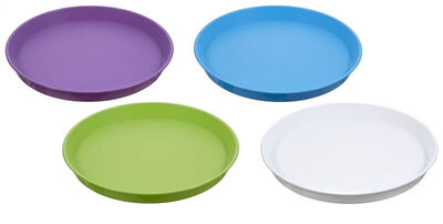 Arrow Plastic Round Serving Tray, Round, Plastic, Assorted