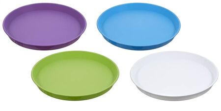 Arrow Plastic Round Serving Tray, Round, Plastic, Assorted