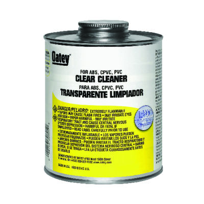 Oatey Clear PVC/CPVC/ABS Cleaner 16 oz.