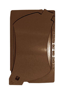 Sigma Rectangle Aluminum Universal Cover For Wet Locations Bronze