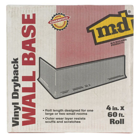 M-D Building Products Coved Wall Base Vinyl 4 in. H x 60 ft. W Almond