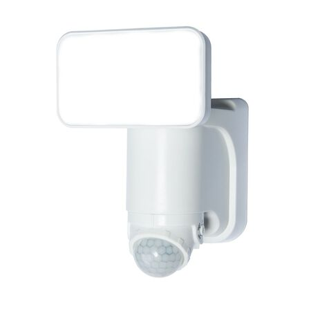 Heath Zenith Solar Security Light White Plastic Motion-Sensing LED