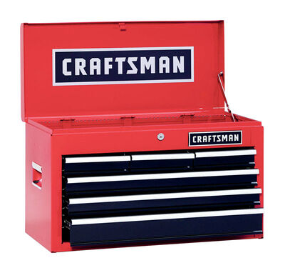 Craftsman 6 drawer Top Tool Chest 12 in. D x 26 in. W x 15-1/4 in. H