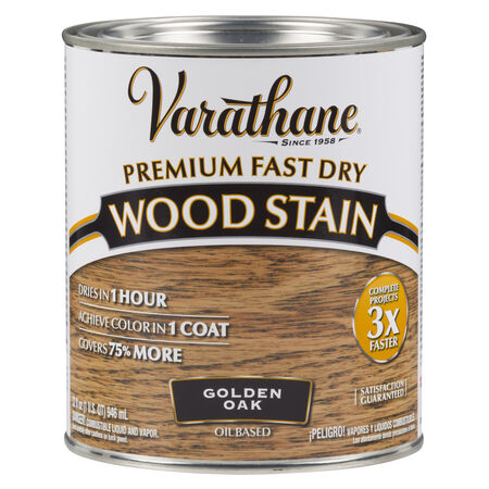 Varathane Semi-Transparent Golden Oak Oil-Based Urethane Modified Alkyd Wood Stain 1 qt.