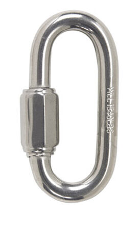 Campbell Chain Polished Stainless Steel Quick Link Silver 1540 lb. 3-1/4 in. L 1 pk