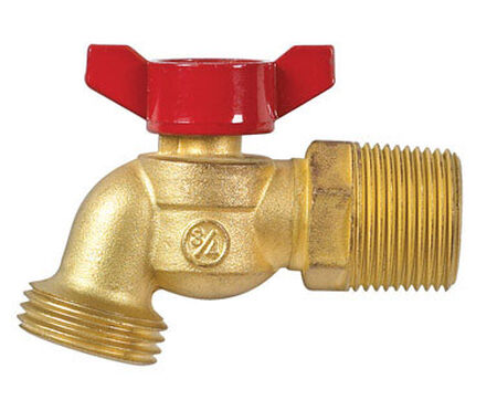 B & K Mueller 3/4 in. MIP Dia. or 1/2 in. FIP Brass 3.1 in. Hose Bibb