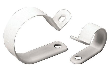 Gardner Bender 3/8 in. Dia. Plastic Cable Clamp 15 pk