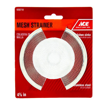 Ace 4-3/8 in. Dia. Mesh Strainer Stainless Steel