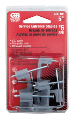 GB 3/4 in. W Zinc-plated Plastic Insulated Metal Service Entrance Staple 5