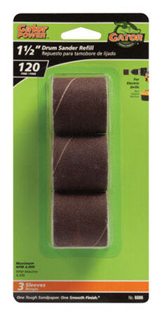 Gator Grit 1.5 in. Dia. x 0.3 in. Dia. 120 Grit Abrasive Sleeve Refill Aluminum Oxide