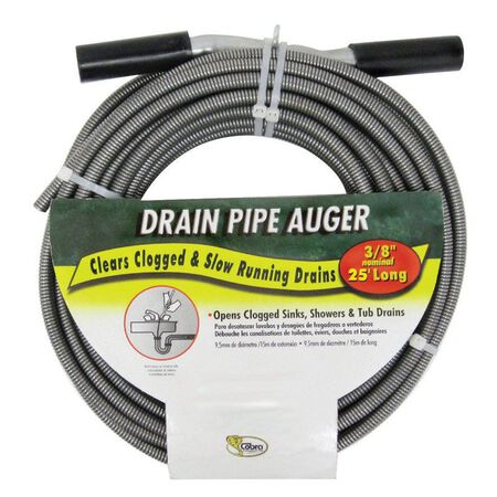 Cobra 3/8 in. Drain Pipe Auger 25 ft. L