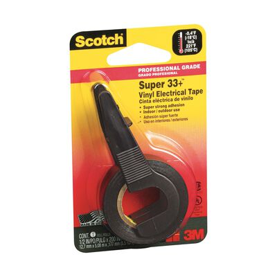 Scotch 1/2 in. W x 200 in. L Vinyl Electrical Tape Black
