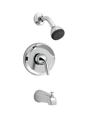 American Standard Tub and Shower Faucet 1 Handle Jocelyn Chrome Finish Solid Brass Material
