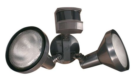 Heath Zenith Bronze Floodlight Motion Sensor Motion-Sensing Par 38 120 volts 120 watts