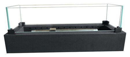 Bond Manufacturing Lara TableFire Propane Firebowl 8 in. H x 28 in. W x 7 in. D Steel