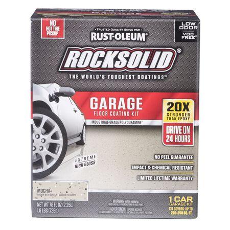 Rust-Oleum RockSolid Garage Floor Coating Kit Extreme High Gloss Mocha 76 oz.