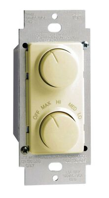 Leviton 1.5 amps Rotary Fan/Light Control Single Pole