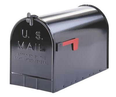 Solar Group Gibraltar Jumbo Galvanized Steel Post Mounted Mailbox Black 15 in. H x 23-1/2 in.