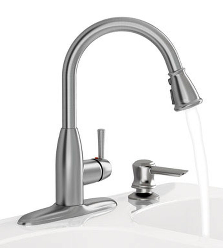 American Standard Mckenzie One Handle Stainless Steel Pull Out Kitchen Faucet Side Sprayer Incl Stine Home Yard The Family You Can Build Around
