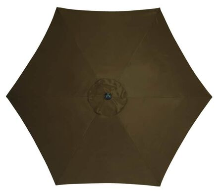 Living Accents 9 ft. Tiltable Brown MARKET Patio Umbrella