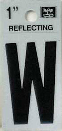 Hy-Ko Self-Adhesive Black 1 in. Reflective Vinyl Letter W