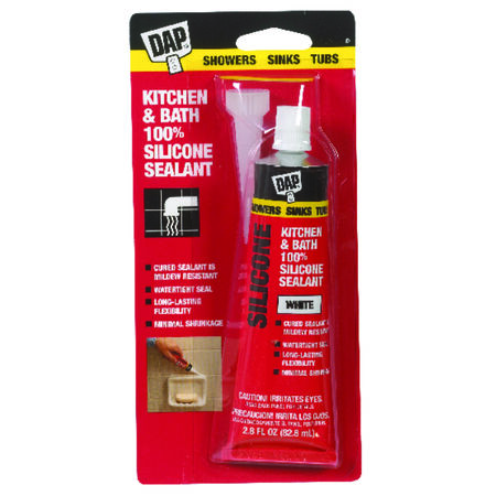 DAP White Silicone Sealant 2.8 oz.
