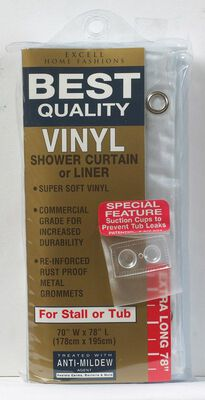 Excell 70 in. H x 78 in. L Frosted Shower Curtain Liner