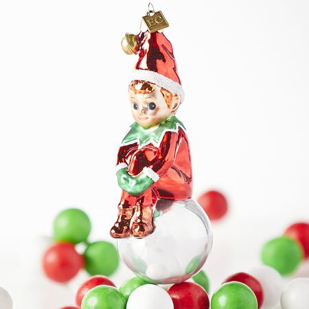 "EC 5.25"" Elf Ornament"