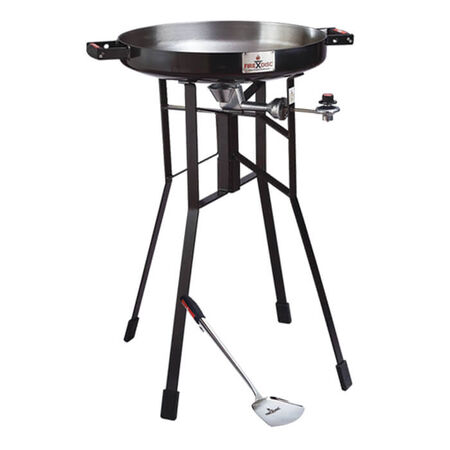 "36"" Black Firedisc portable propane cooker package"