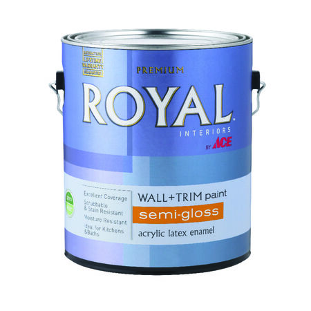 Ace Semi-Gloss Interior Interior Latex Wall+Trim Paint High Hiding White 1 gal.