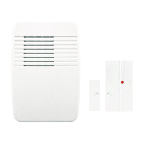 Heath Zenith White Entrance Alert 5-1/8 in. H x 3-1/2 in. W x 1-3/8 in. L