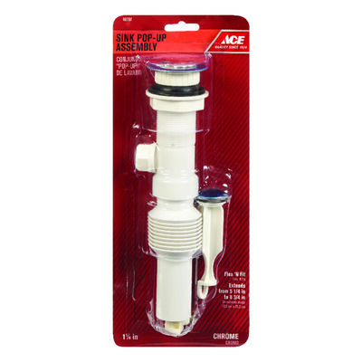 Ace 1-1/4 in. Dia. Pop-Up Drain Assembly Plastic Polished