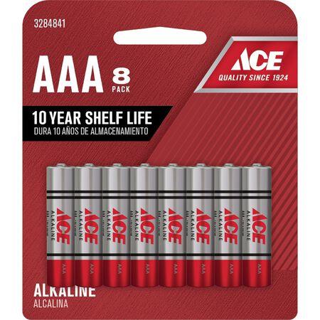 Ace AAA Alkaline Batteries 1.5 volts 8 pk