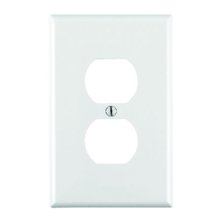 Leviton Midway 1 gang White Nylon Duplex Outlet Midsize Wall Plate 1 pk