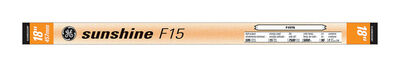 GE Fluorescent Bulb 15 watts 620 lumens Linear T8 18 in. L Sunshine 1 pk