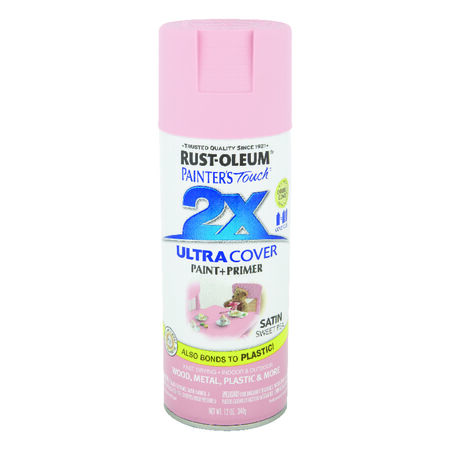 Rust-Oleum Painter's Touch 2X Ultra Cover Satin Sweet Pea Spray Paint 12 oz.