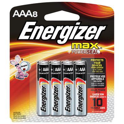 Energizer Max AAA Alkaline Batteries 1.5 volts 8 pk