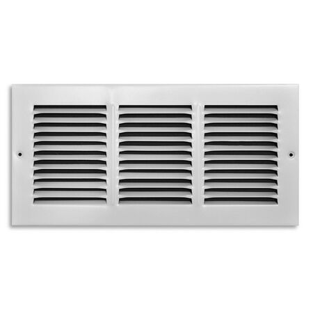 Tru Aire 6 in. H x 14 in. W White Steel Return Air Grille