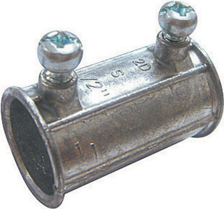 Sigma 1 in. Dia. Zinc Set Screw Coupling EMT