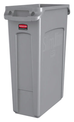 Rubbermaid Commercial Slim Jim 23 gal. Resin Garbage Can