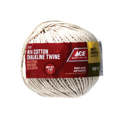 Ace 24 in. Dia. x 280 ft. L Twisted Cotton Twine White
